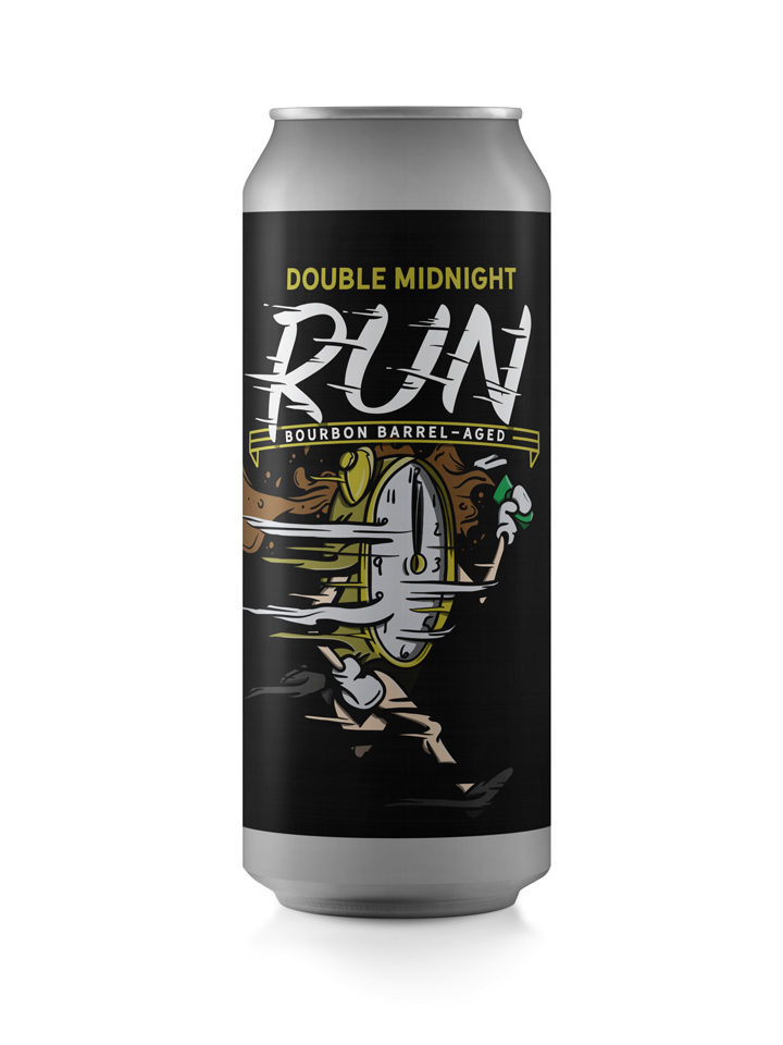 Bourbon Barrel Aged Double Imperial Oatmeal Stout with Coffee - $8 per 16oz can (Two Cans Per Person)
