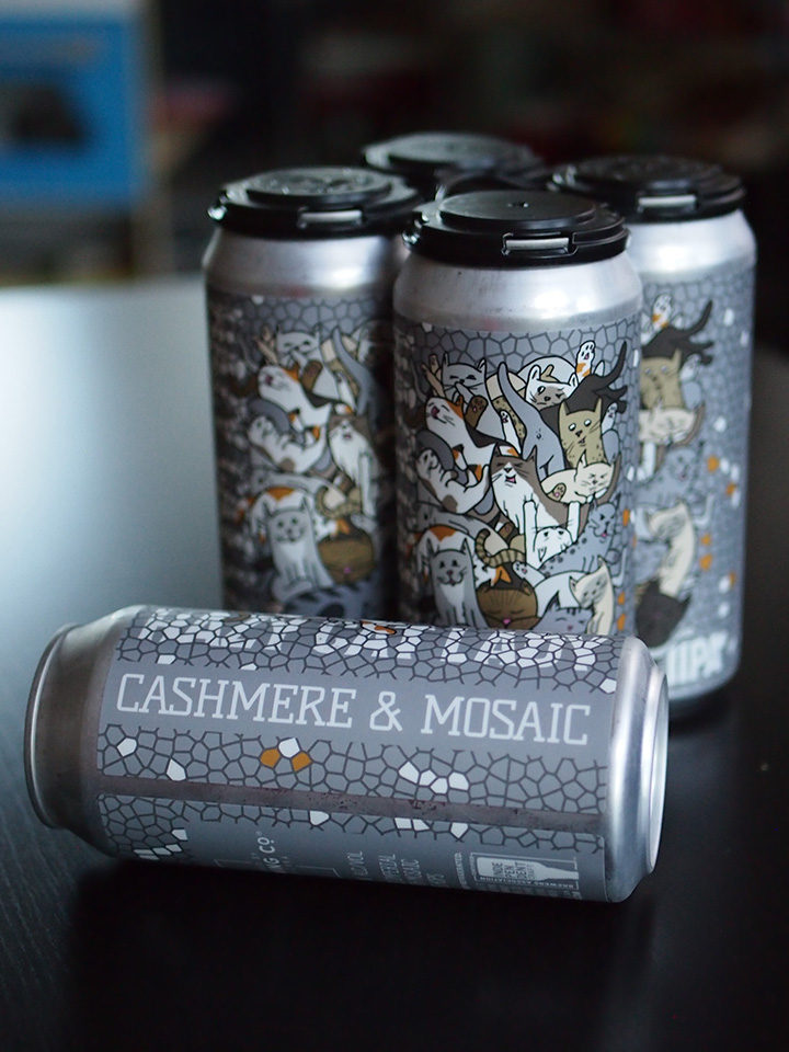 Double dry-hopped Imperial IPA with Cashmere and Mosaic Hops. 8% ABV 16oz 4pack (no limits) $18