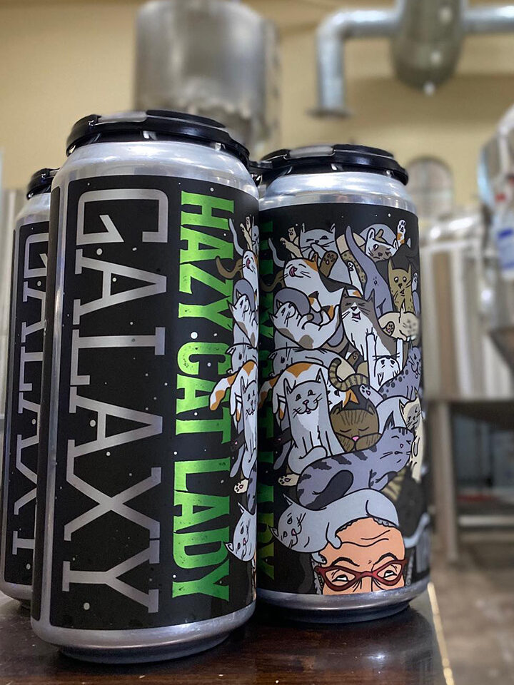 Hazy IPA with Galaxy hops 6.7% ABV | 16oz 4pack (no limits) $18